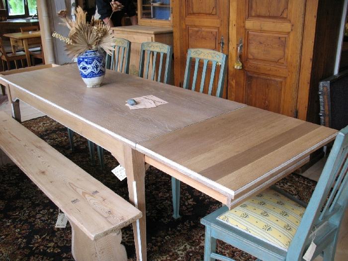 travaux sur bois s rl nos travaux en images la table. Black Bedroom Furniture Sets. Home Design Ideas
