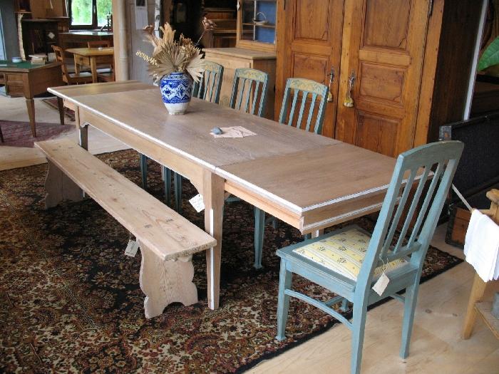 Travaux sur bois s rl nos travaux en images la table for Table qui s allonge